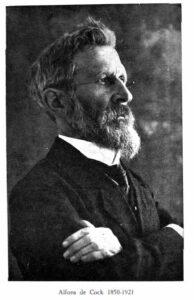 zwart-wit portret van Alfons de Cock