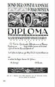 Diploma Alfons De Cock wedstrijd in OVLZ 1975