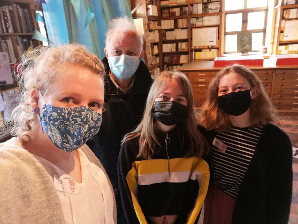 Frea, Adrien, Joke en Tara organiseerden de deelname van de KBOV aan Ergoeddag editie 2021.